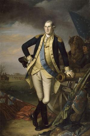 George Washington after the Battle of Princeton on January 3, 1777