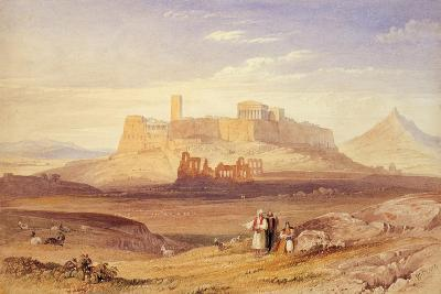 View of Athens with the Acropolis and the Odeon of Herodes Atticus, First Quarter of 19th C