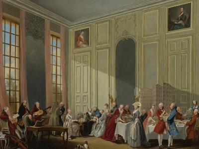 Mozart Giving a Concert in the Salon Des Quatre-Glaces at the Palais Du Temple