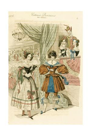 Illustration from the Frankfurt Edition of Journal Des Dames Et Des Modes