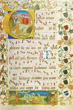 Leaf from Antiphonary for Elisabeth Von Gemmingen, C. 1504
