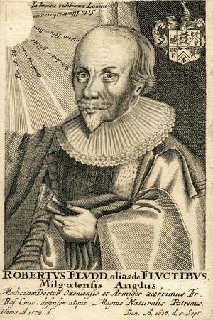 Portrait of Robert Fludd (1574-163), 17th Century