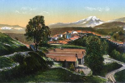 The Barracks with Distant Snow-Capped Mountains, Chakrata, India, Early 20th Century