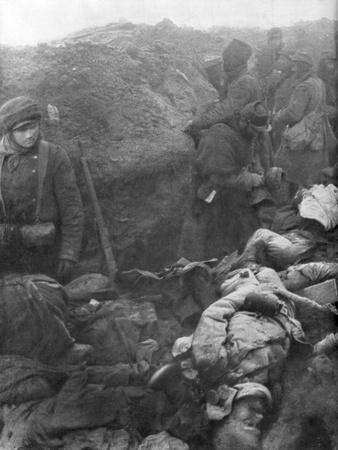 A German Trench after an Assult by the French 1st Army, France, 1915