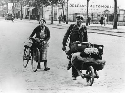 French Refugees Returning Home after the Fall of France to the Germans, Paris, July 1940