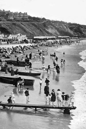 The Beach at Bournemouth, Dorset, Early 20th Century