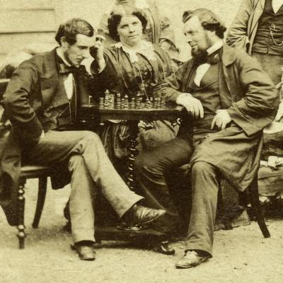 Chess and Cards, C1850s
