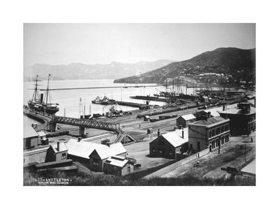 Lyttelton, Canterbury, South Island, New Zealand, 1880