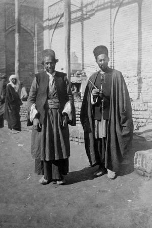 Persian Pilgrims Outside Kazimain Mosque, Iraq, 1917-1919