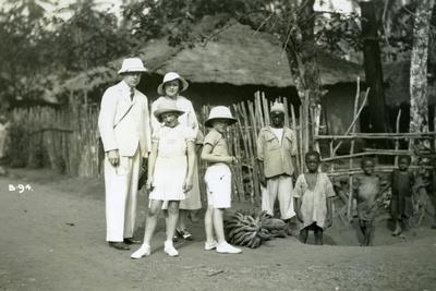 Group Portrait of Europeans and Locals, Sierra Leone, 20th Century