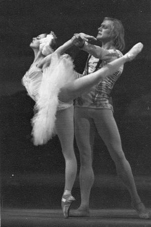 Ludmila Semenyaka and Alexander Godunov in the Ballet Swan Lake, 1970S