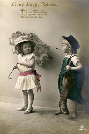 Many Happy Returns, Birthday Card, C1900-1929