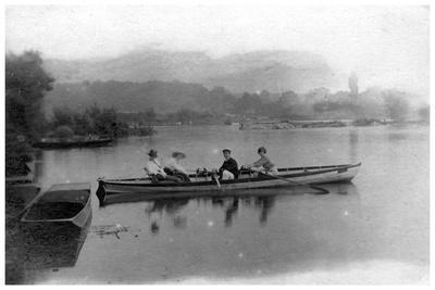 Rowing on a Lake, C1900-1919