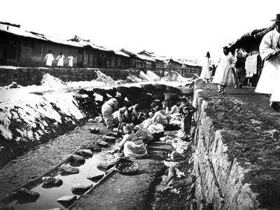 Washing Clothes Outdoors, Korea, 1900