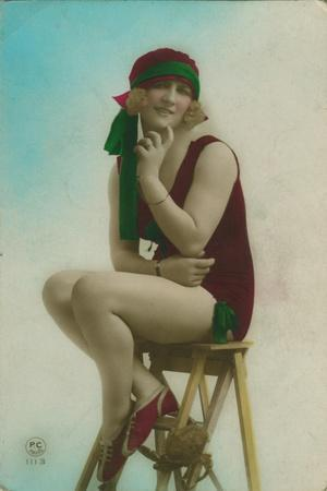Postcard of a Swimmer, C1920S