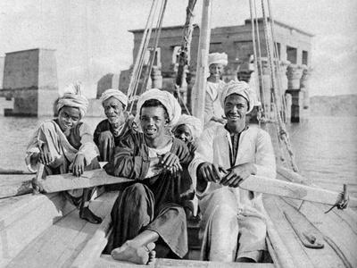 Berberin Boatmen, Flooded Isle of Philae, Egypt, C1922