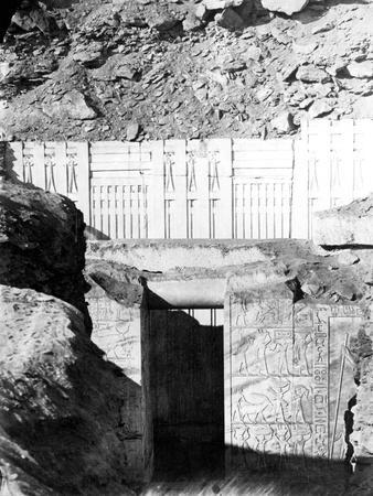 Entrance to Ruins, Egypt, 1863-1864