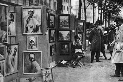 Paintings for Sale, Paris, 1931