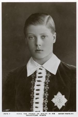 The Prince of Wales in His Investiture Robes, C1911