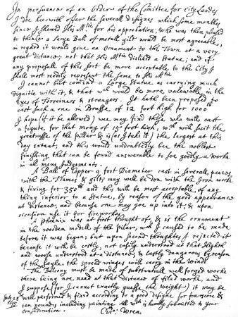 Report of Sir Christopher Wren to the Committee of the City Lands, 1675