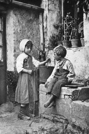 Two Children in a Backyard, 902-1903