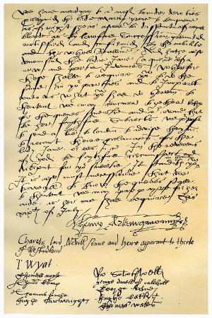 Letter from Henry Neville and Others, 19th July 1553