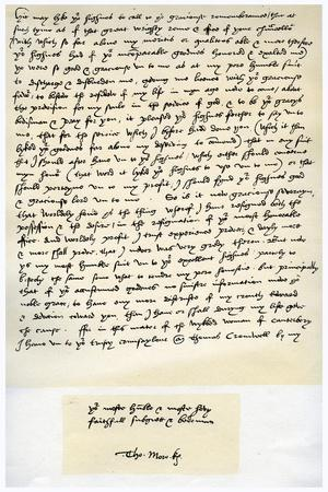 Letter from Sir Thomas More to Henry VIII, 5th March 1534