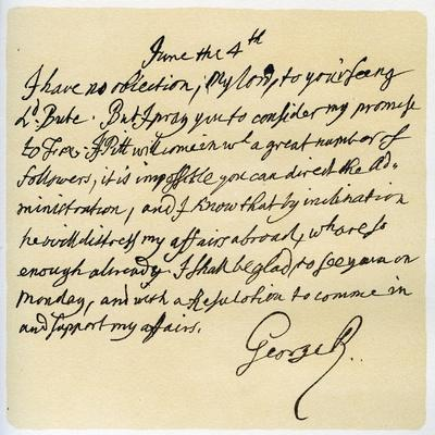 Letter from George II to Thomas Pellam-Holles, 4th June 1757