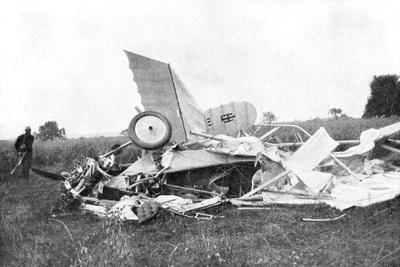 Wreckage of Aeroplane in Which British Pilot Flight-Lieutenant Warneford Was Killed, 1915