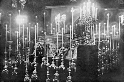 The Coffins of Archduke Franz Ferdinand and Archduchess Sophie Lying in State, 1914