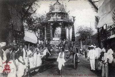 The Silver Chariot of the Chettiars, Saigon, Vietnam, 1912