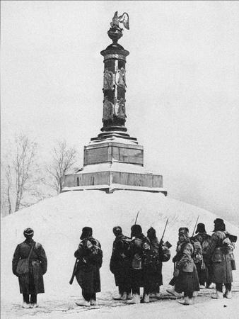 Soviet Soldiers at the Monument to the Heroes of the War of 1812