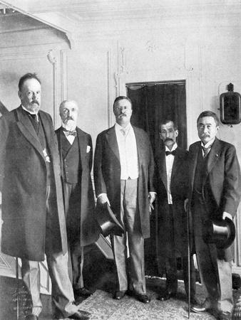 Treaty of Portsmouth Peacemakers on Board the Mayflower, 1905