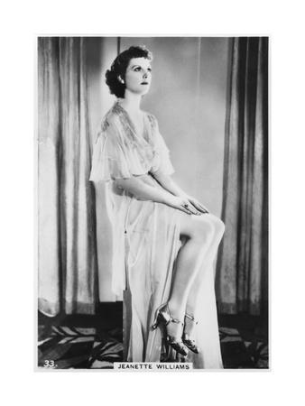 Jeanette Williams, C1938