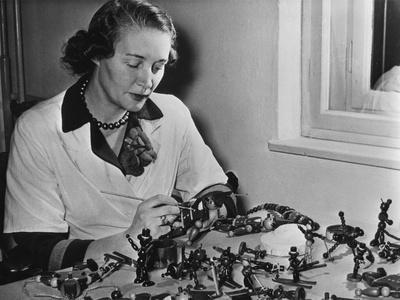 Wooden Toys Being Finished in Vienna, Austria, Bound for America, 1952