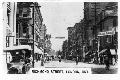 Richmond Street, London, Southwestern Ontario, Canada, C1920s