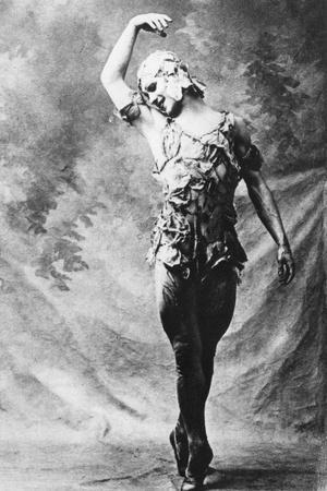 Vaslav Nijinsky, Russian Ballet Dancer, in Le Spectre De La Rose, Paris, 1911