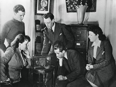 French Citizens Listening to a Broadcast by Vichy Deputy Premier Admiral Darlan, 23 May, 1941