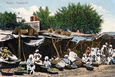 Market, Rawalpindi, India, Early 20th Century