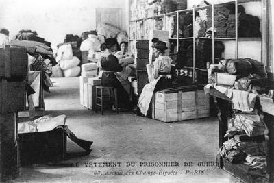 Clothing for Prisoners of War, Champs-Élysées, Paris, World War I, 1914-1918