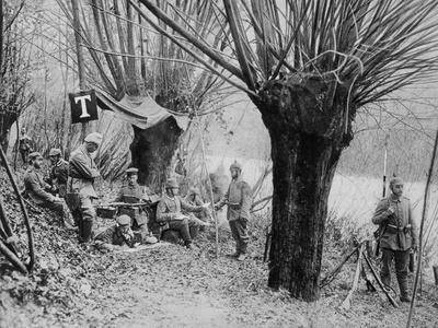German Field Telephone Station, Aisne, France, World War I, 1915