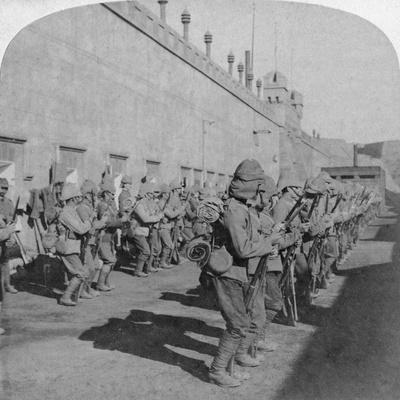 Inspection of the Cheshire Regiment in the Fort at Johannesburg, Boer War, South Africa, 1901