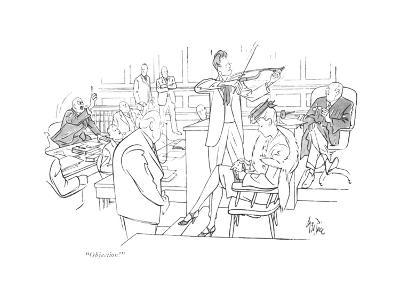 """Objection!"" - New Yorker Cartoon"
