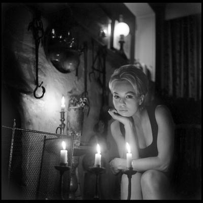 Mylène Demongeot by Candlelight, October 1965