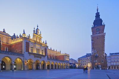 Town Hall Tower and Cloth Hall, Market Square, Krakow, Poland, Europe