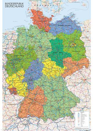 Germany Map Poster At Allposters Com