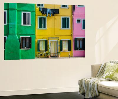 Colourful Painted Houses in Burano, Veneto, Italy