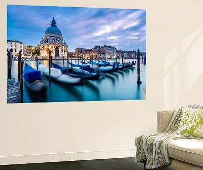 Italy, Veneto, Venice. Santa Maria Della Salute Church on the Grand Canal, at Sunset