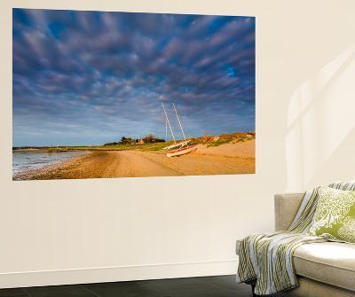 Boats on Beach, Steenodde, Amrum Island, Northern Frisia, Schleswig-Holstein, Germany