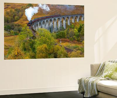 Jacobite or Harry Potter Steam Train Crossing Glenfinnan Viaduct, Lochaber